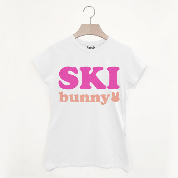 Ski Bunny – Women's Cute Winter Retro Après Ski Snowboard Slogan T-Shirt