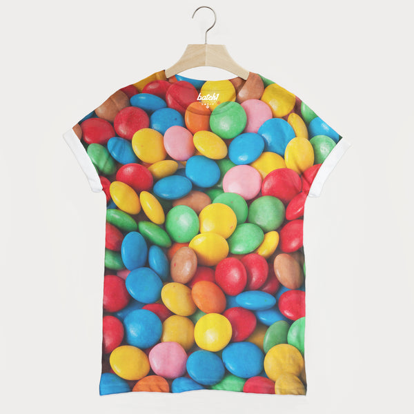 Smarties All Over Photo Print Unisex Candy Sweets Food Fashion T-Shirt