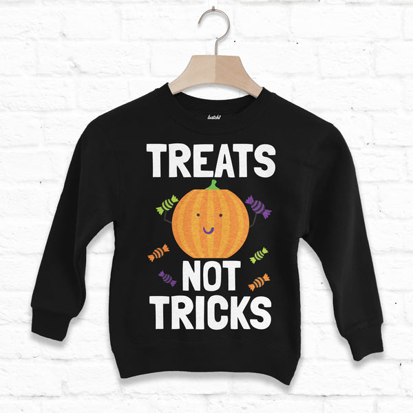 Treats Not Tricks Children's Halloween Sweatshirt