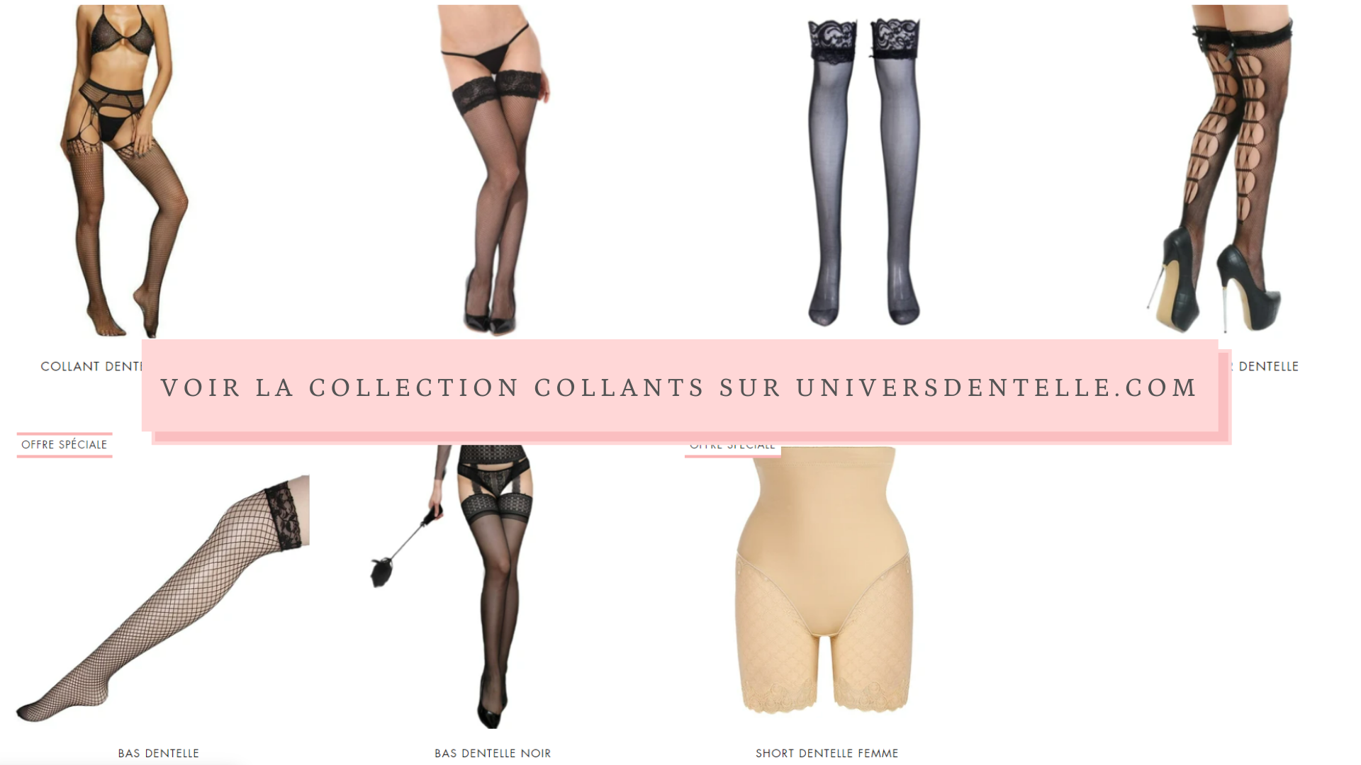 Collection Collants Dentelle
