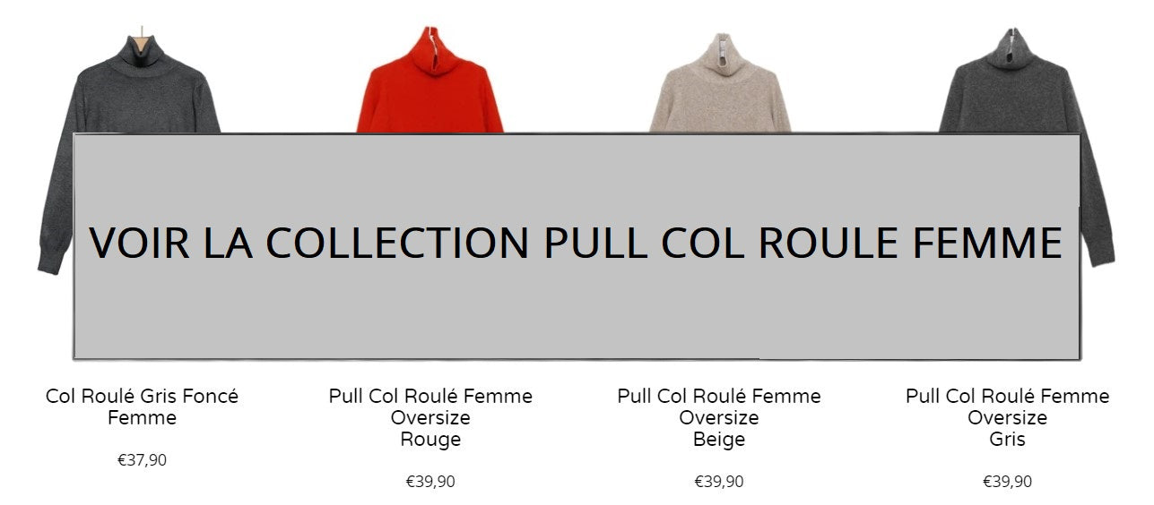 Collection Pull Col Roulé Femme