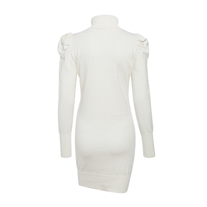 Robe Col Roule Blanc