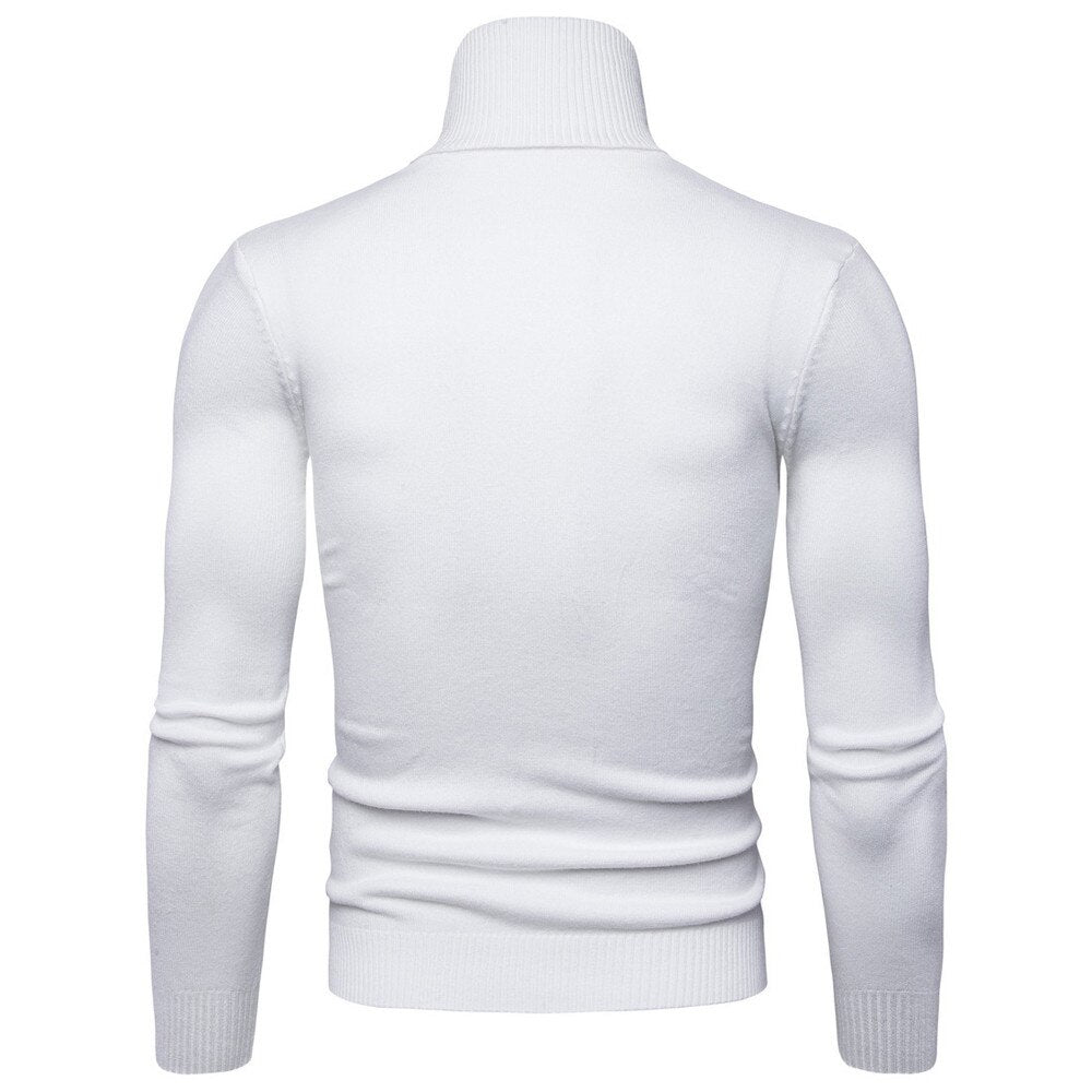 col roule blanc homme
