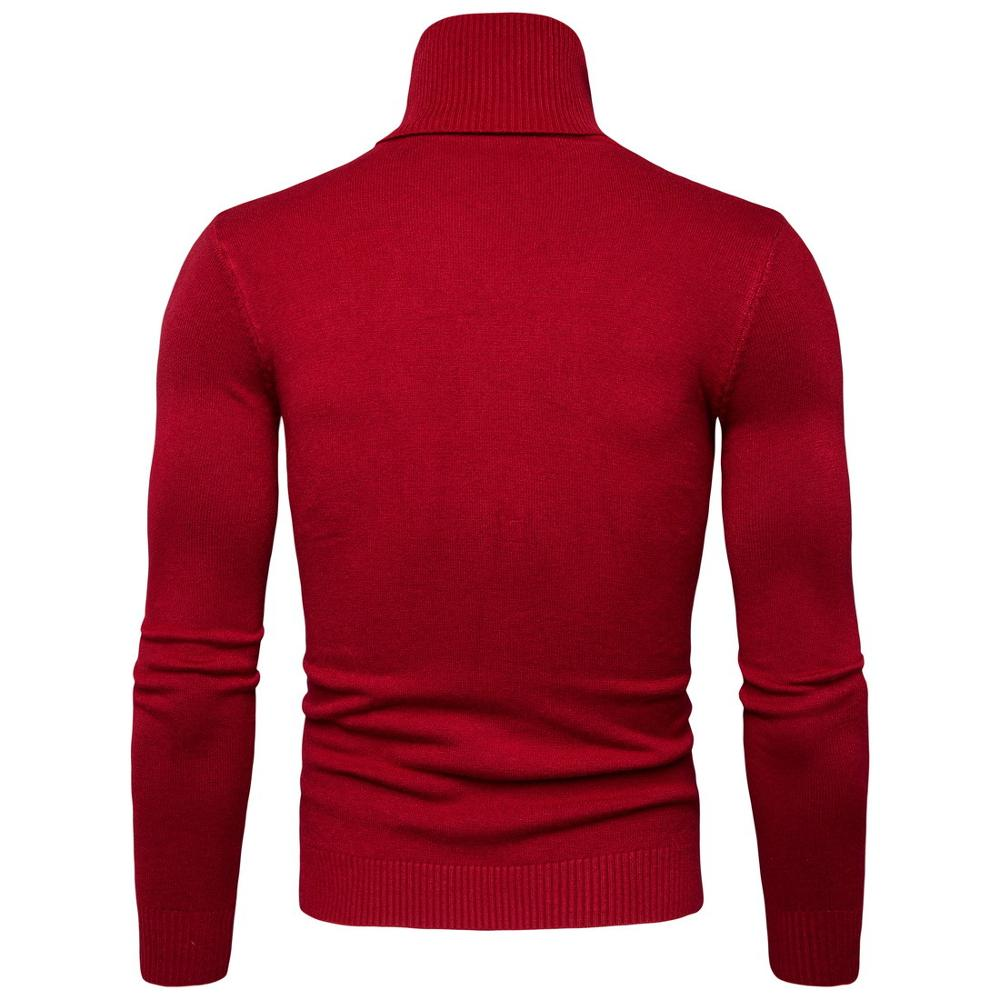col roule rouge homme
