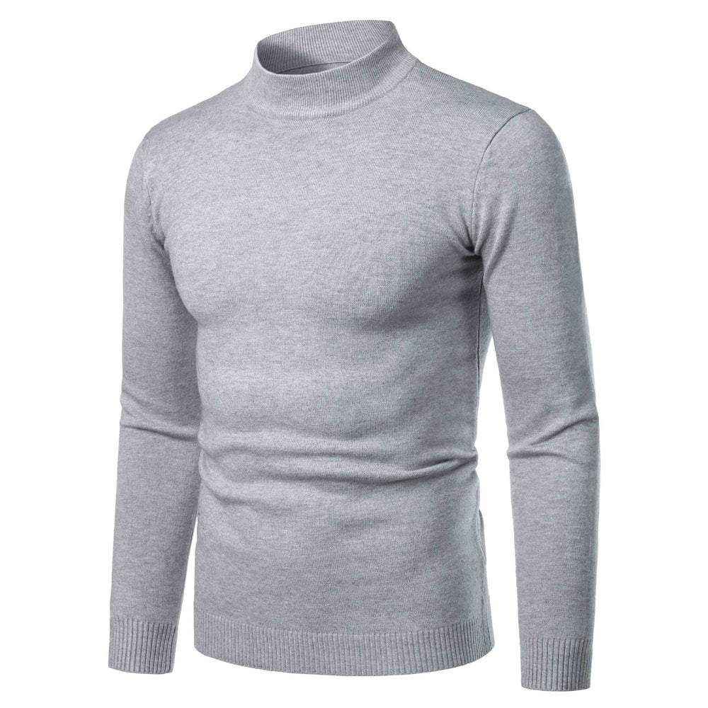 Pull Col Montant Homme Gris Clair