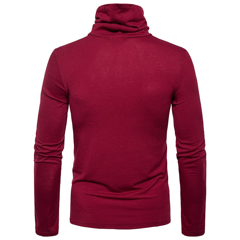 Sous-Pull Col Large Rouge