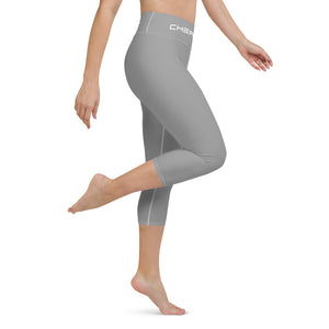 Claw Yoga Capri Leggings Grey