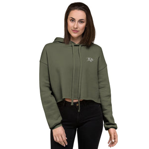 Inception Crop Hoodie Army