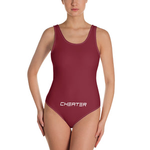 One-Piece Swimsuit Maroon