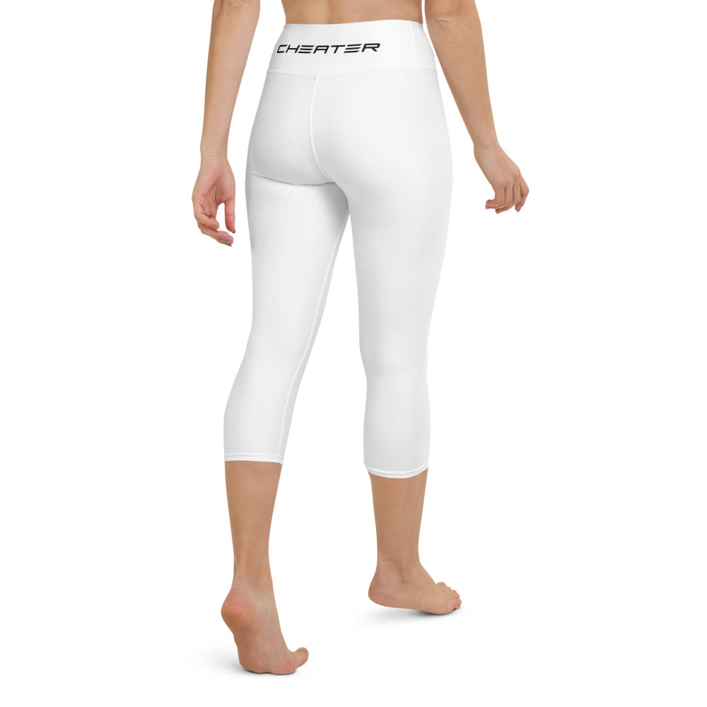 Claw Yoga Capri Leggings White