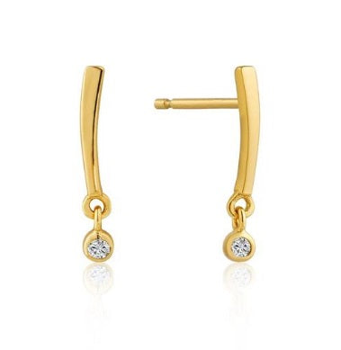 Touch of Sparkle Solid Stud Earring