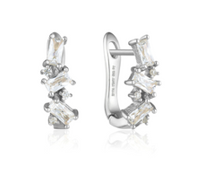 Load image into Gallery viewer, Cluster Huggie Earrings