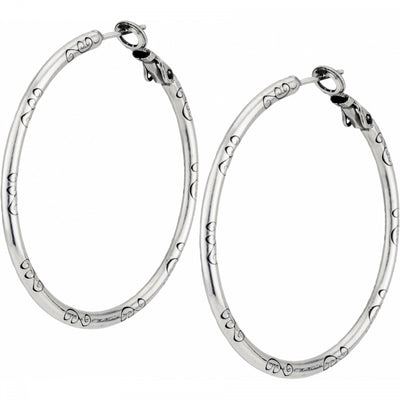 Large Earring Charm Hoops