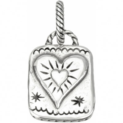 ABC Notes Heart Charm