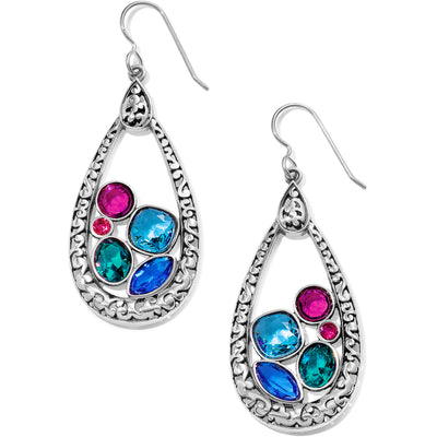 Elora Gems Vitrail Hoop French Wire Earrings