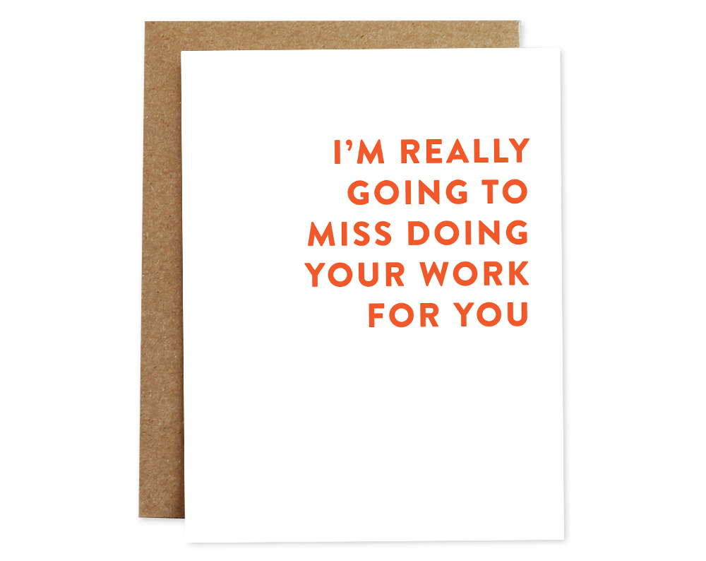 Work for You Card