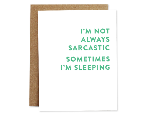 Sarcastic Card