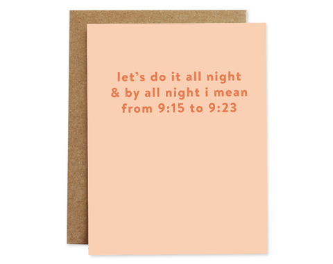 All Night Card