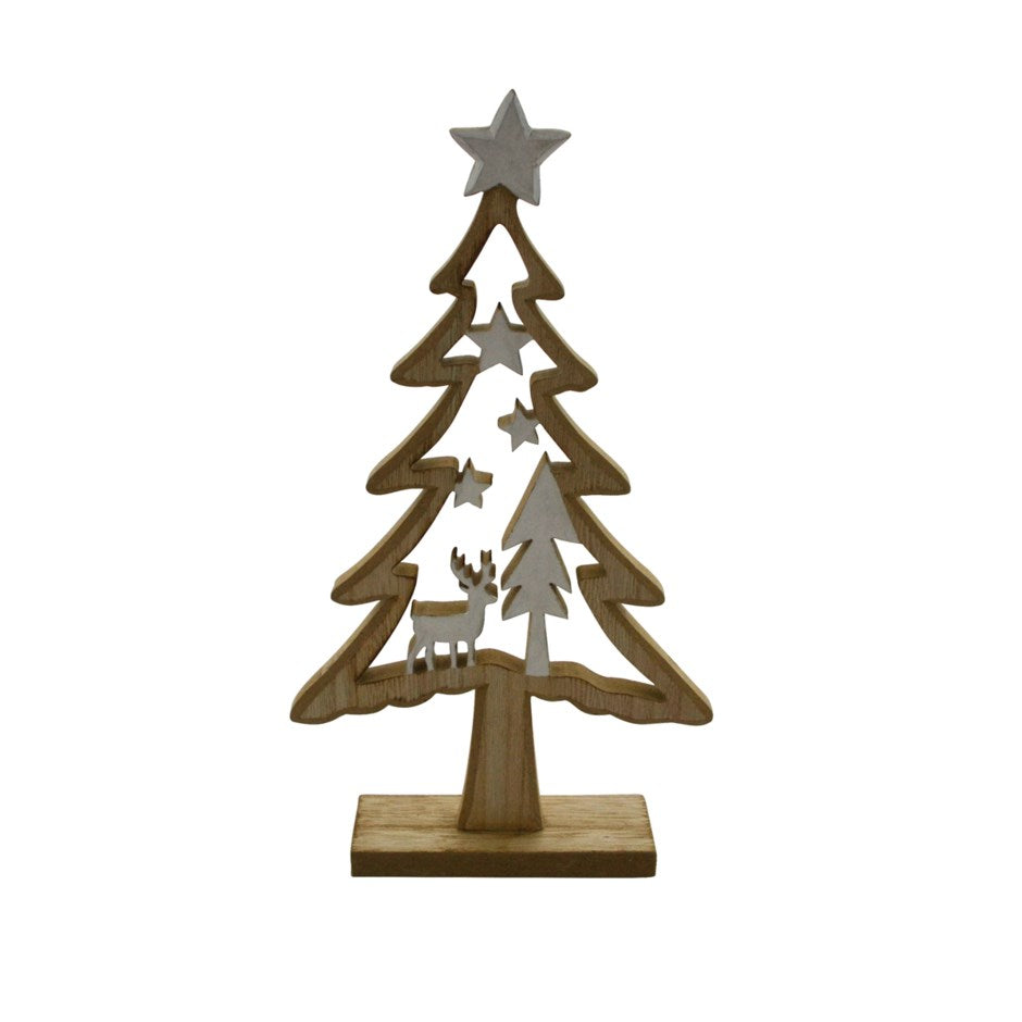 Wooden Tree Decoration