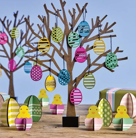 Spring Chick Decoration Set