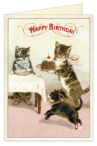 Cat Dinner Birthday Card