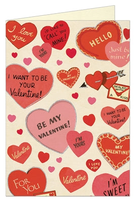 Vintage sweet hearts valentine card