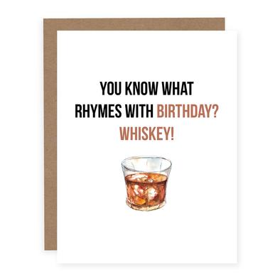 Rhymes With Birthday Whiskey Card