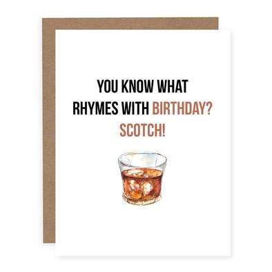 Rhymes With Birthday Scotch Card