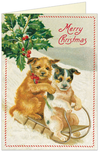 Merry Christmas Dogs Card