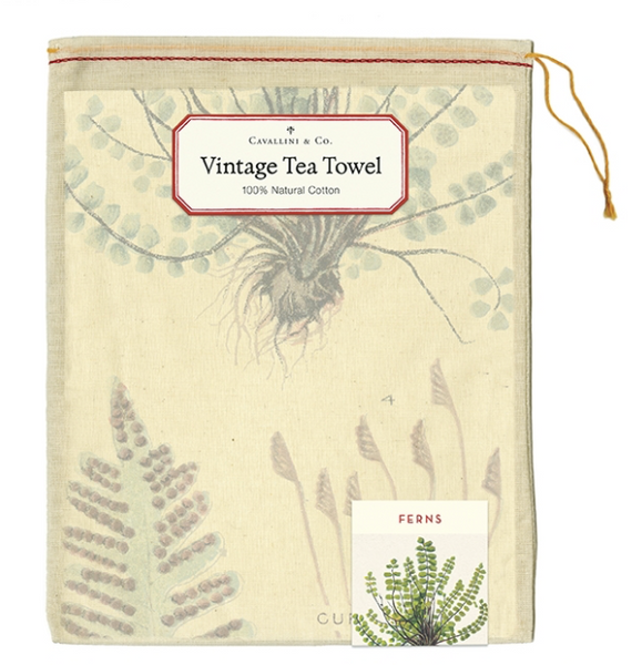 Ferns Tea Towel - Cavallini