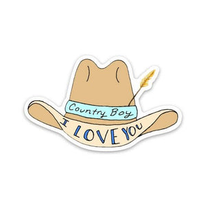 I Love You Country Boy Sticker