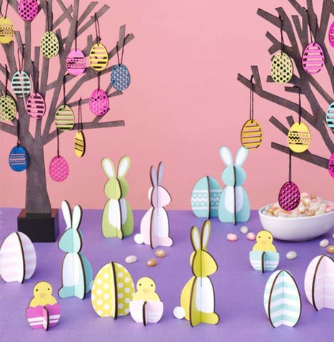 Bunnies Decoration Set