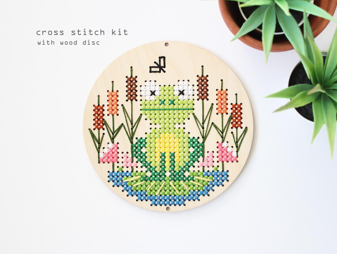 Frog At The Pond Counted Cross Stitch Kit