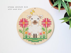 Sheep In The Meadow Counted Cross Stitch Kit