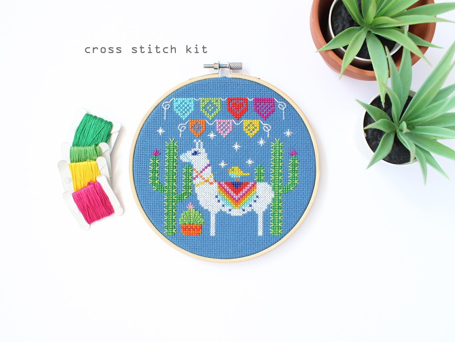 Fiesta Llama Counted Cross Stitch Kit