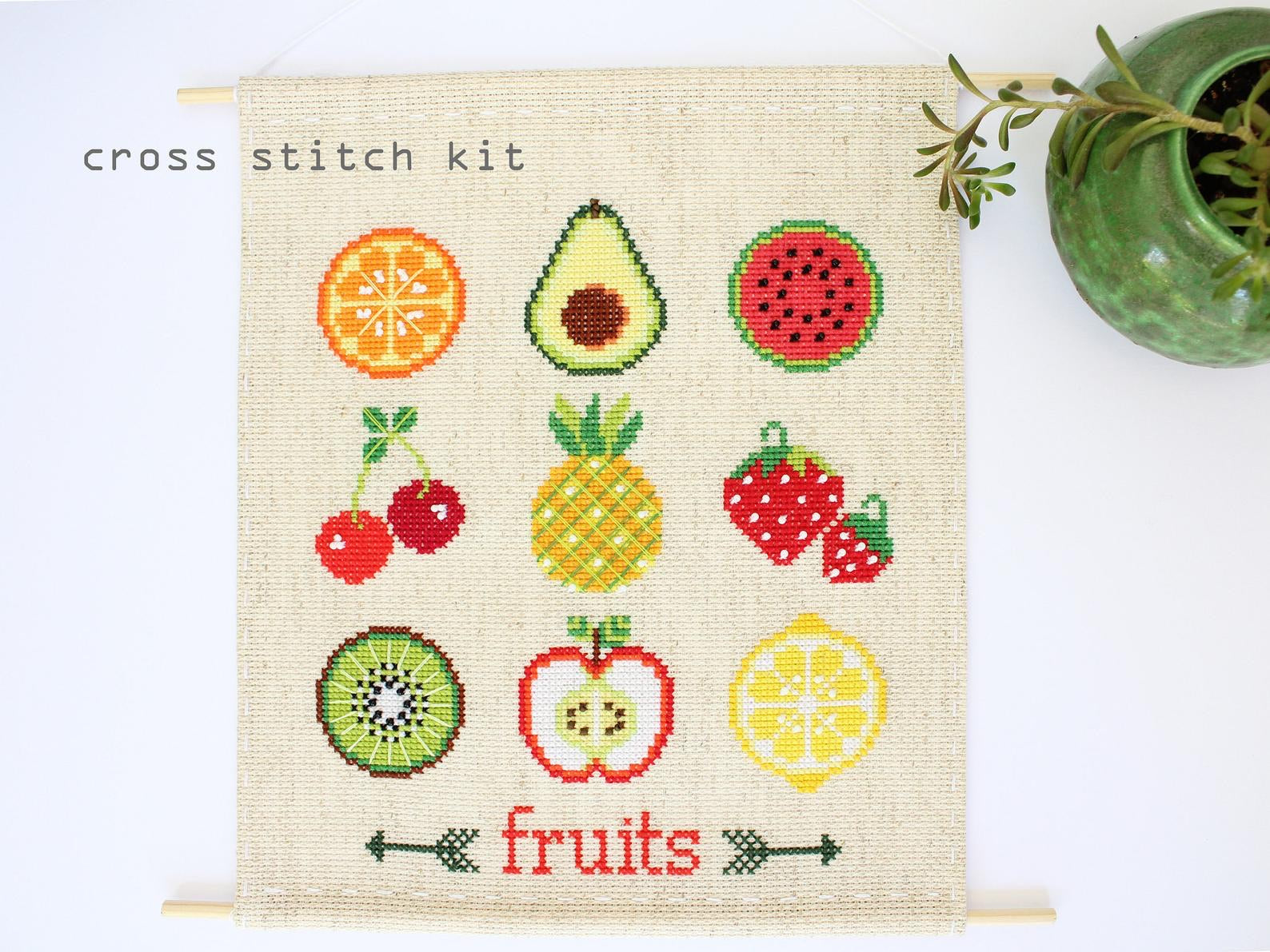 Fruit Sampler Counted Cross Stitch Kit