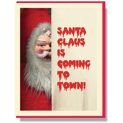 Creepy Santa Mixed Card Box