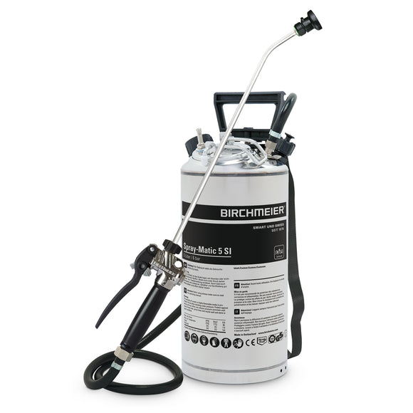 Spray-Matic 5 SI, stainless steel hand pump and compressed-air union