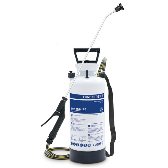 Clean-Matic 5 E, compression sprayer with fanjet nozzle (alkalis)