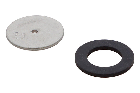 Nozzle plate with gasket 1.3 mm stainless, minimum order qty. 5 pcs