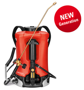 Iris 15 AT2,  professional backpack sprayer (15 litres) NBR, Duro nozzle 1.5 mm, pressure gauge