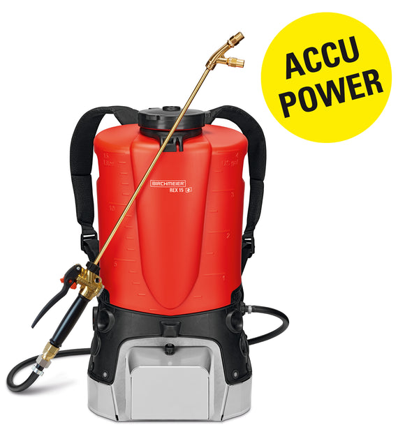 REX 15 AZ1, backpack sprayer (15 litres) (battery Li-Ion 25.2 V), incl. battery charger (230 V)