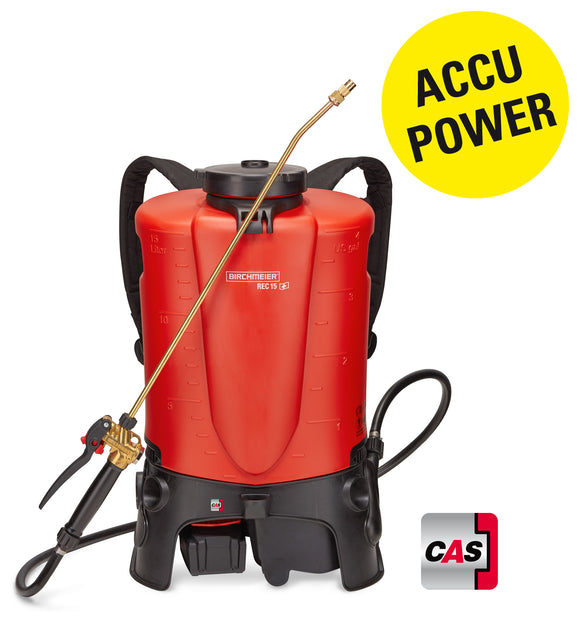 REC 15 AC1, backpack sprayer (15 litres) incl. battery pack and charger GB