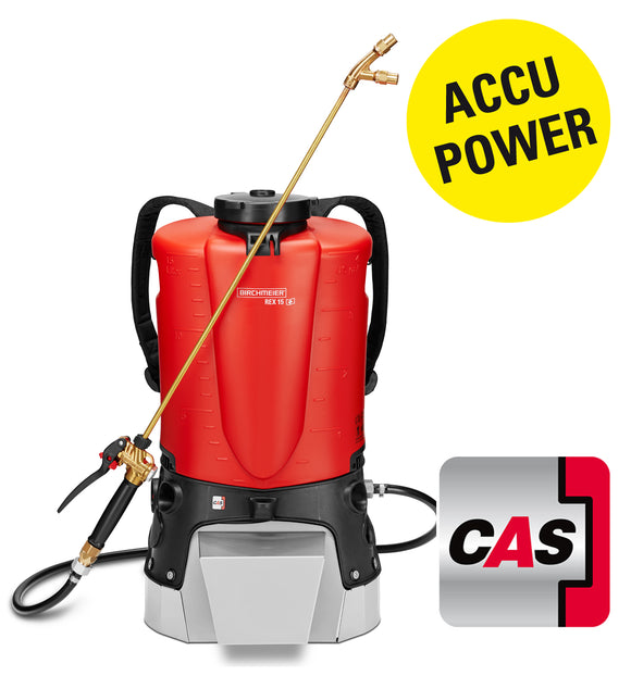 REX 15 AC1, backpack sprayer (15 litres) incl. battery pack and charger GB