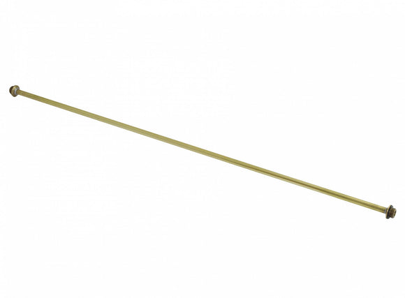 Brass-Spray tube 80 cm, straight, without adjust. connect., G1/4