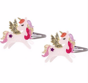 Winged Unicorn Snap Clips