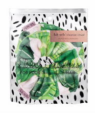 Load image into Gallery viewer, Palm Print Towel Scrunchies - 2 pack