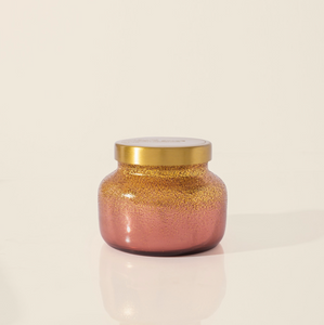 Tinsel & Spice Bronzed Berry Glittered Ombre Candle