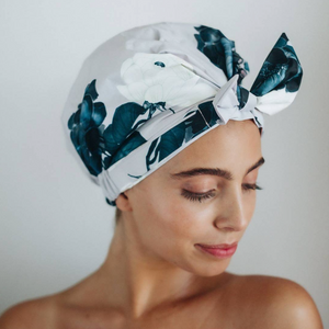 Floral Elevated Shower Cap