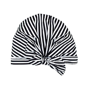 Striped Elevated Shower Cap
